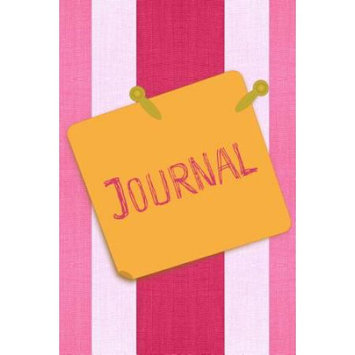Createspace Publishing Journal: Pink Stripes With Label Lined Blank Journal