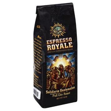 Espresso 12 oz. Solidario Guatemalan Full City Roast Coffee Beans - Case Of 6