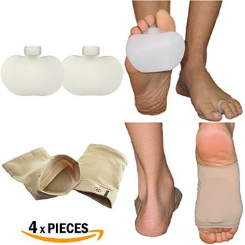 Armstrong Amerika Foot Cushions Ball of Foot Gel Pads & Arch Supports Sleeves Kit Relieve Forefoot Pain Metatarsal Soreness with Silicon Feet Protector Shoe Inserts (One Size Fits Most, Unisex)