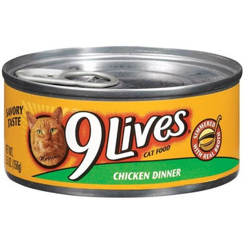 Del Monte Foods - Pet Food 5. 5 Oz Chicken Dinner 9Lives Canned Cat Food 79100- - Pack of 24