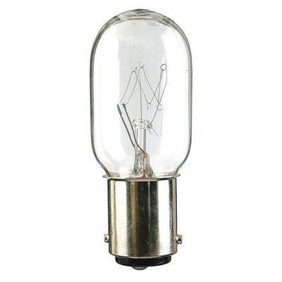 LUMAPRO 4RZU4 Miniature Bulb,15T7DC,15W,T7,120V