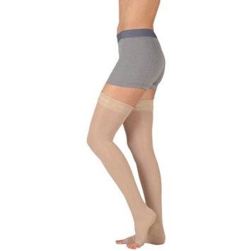 Juzo 4410 Basic Open Toe Thigh Highs w/Silicone Dot Band - 15-20 mmHg Short JUZO4410AGSB-P