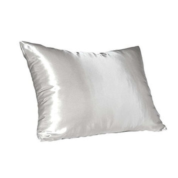 Satin Pillow Case, Queen Size, White 2 pack