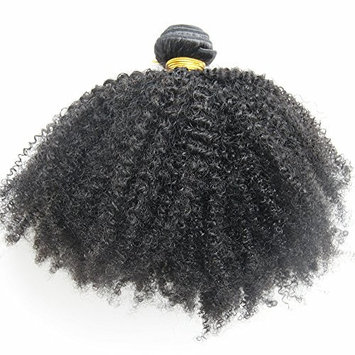 MsFenda Hair Top Quality 100% Peruvian Raw Virgin Human Hair Afro Kinky Curly Hair Natural Color Hair Extensions (22 inch, Afro Kinky Curly)
