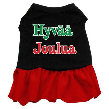 Mirage Pet Products 18-Inch Hyvaa Joulua Screen Print Dress