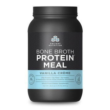 Ancient Nutrition Bone Broth Protein Meal Vanilla Crme 800g - 20 Servings - Metabolism and Healthy Weight Management