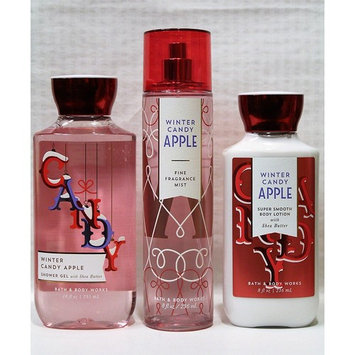 Bath & Body Works ~ Signature Collection ~ Winter 2017 ~ Winter Candy Apple ~ Shower Gel - Fine Fragrance Mist & Body Lotion – Trio Gift Set