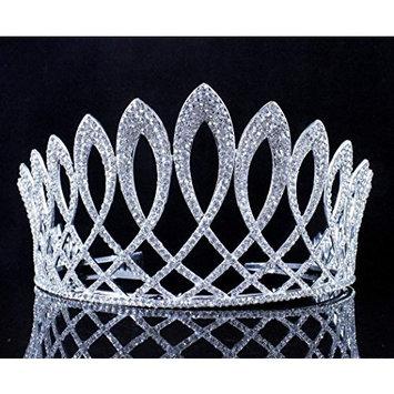 Exquisite Clear Austrian Crystal Rhinestone Tiara W Hair Combs Crown Prom T11925