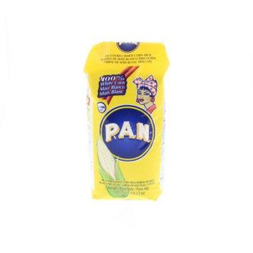 PAN White Corn Meal - Harina de maiz blanco precocida 1 Kg (Pack of 6)