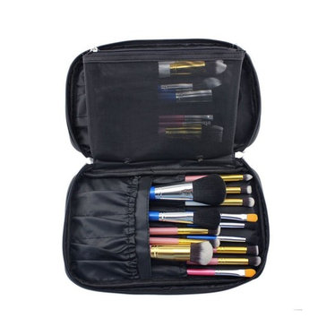 Hotrose Timed Promotion Multifunctional Makeup Brush Zipper Cosmetic Case for Travel & Home Use(Small Size)