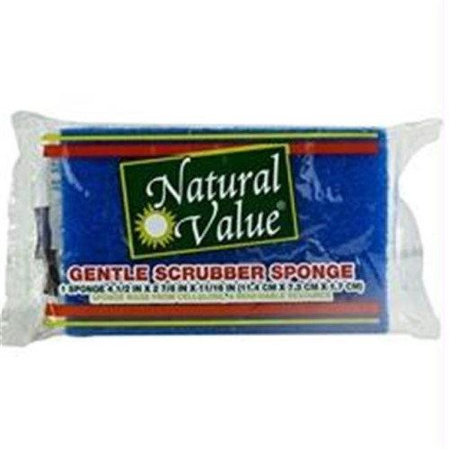 Natural Value Gentle Scrubber Sponge, (Pack of 24)