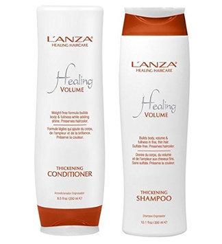 L'anza Lanza Healing Volume Thickening Shampoo 10.1 oz & Conditioner 8.5 oz DUO