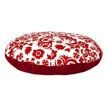 Chooty & Co. Suzani Lipstick 36-inch Round Pet Bed