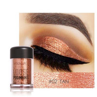 Misaky12 Color Misaky Classy Intensity Single Baked Shimmer Pearl Metallic Pigmented Eyeshadow Highlighter Pigment Palette