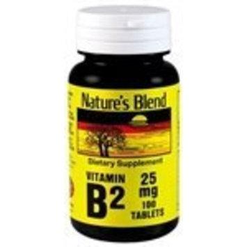 Nature's Blend Vitamin B-2 25 mg 100 Tablets