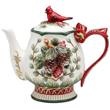 Cosmosgifts Evergreen Holiday Teapot