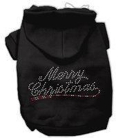 Mirage Pet Products 542507 XXXLBK Merry Christmas Rhinestone Hoodies Black XXXL 20
