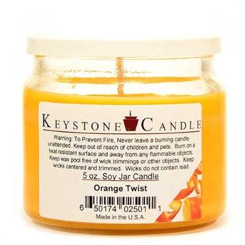 Usc 3 Pcs of 5 oz Orange Twist Soy Jar Candles 3.5 in. diameter x 2.75 in. tall (Pack of 3)