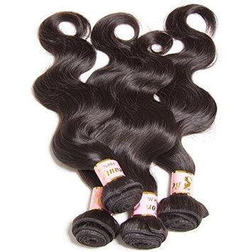 B&F Hair Brazilian Virgin Body Wave Weft 3 Bundles 10-26inch 100% Unprocessed Virgin Human Hair Extensions Natural Color (100+/-5g)/pc