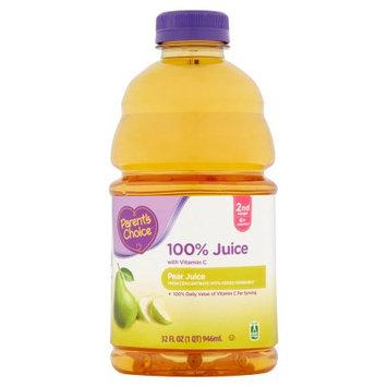 Wal-mart Stores, Inc. Parent's Choice 100% Pear Juice, 32 fl oz