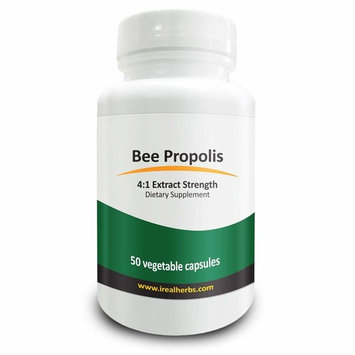 Real Herbs Bee Propolis Extract - Derived from 2800mg of Bee Propolis with 4 1 Extract Strength - Anti-Inflammatory Support for Athletic Performance, Improves Immune Function – 50 Vegetarian Capsules