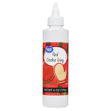 Great Value Red Cookie Icing 6oz