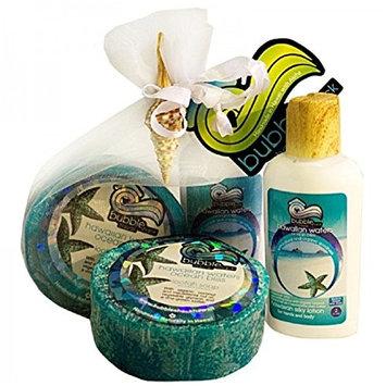 Hawaiian Bubble Shack Loofah Soap & Body Lotion Duo Gift Set Ocean Bliss