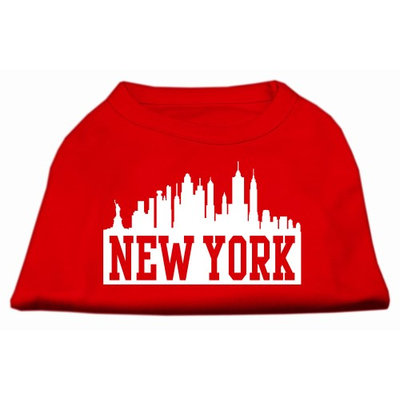 Mirage Pet Products 5181 SMRD New York Skyline Screen Print Shirt Red Sm 10