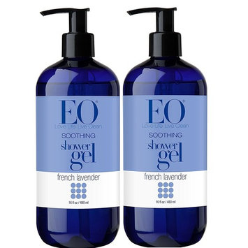 EO French Lavender Shower Gel With Lavender, Coconut Oil, Organic Aloe Vera, Calendula and Vitamin E, 16 fl. oz (Pack of 2)
