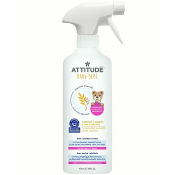 Attitude Baby Sensitive Skin Care Natural Laundry Stain Remover, 16 Oz