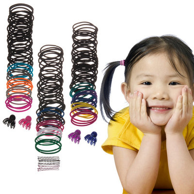 136pc Scunci Multi-Color Value Pack Elastics Hair Ties Jaw Clips Bobby Pins 3pk