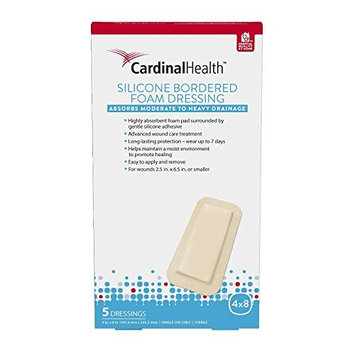 Cardinal Health Silicone Bordered Foam 4in x 8in
