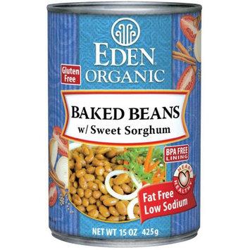 Eden Organic Eden Baked Beans (navy) w/Sorghum, Organic, 15 Ounce (Pack of 6)