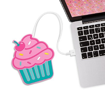 Mustard Freshly Baked Cupcake Cup Warmers I USB Powered Cup Warmer I Mug Warmer for Desk I On/Off Switch I Coffee Cup Warmer for Desk USB I Cup Heater USB I Portable Cup Heater I Cupcake - Pink