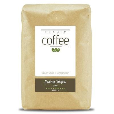 Teasia Coffee, Mexican Chiapas, Single Origin, Green Unroasted Whole Coffee Beans, 5-Pound Bag [Mexican Chiapas]