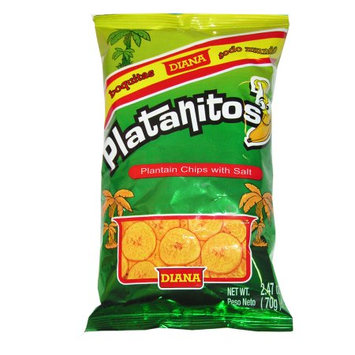 Prodiana Plantain Chips Snacks 2.47 oz (Pack of 6)
