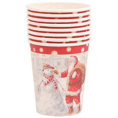 DDI 2127524 Santa & Snowman Printed Cups - Case of 36