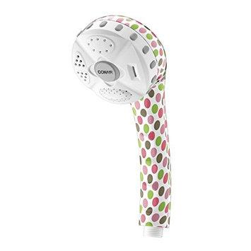 Conair Home 4 Setting Handheld Shower Head; Polka Dots