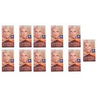 Revlon Colorsilk Beautiful Color, Medium Golden Chestnut Brown 46 1 ea (Pack of 11) + FREE Assorted Purse Kit/Cosmetic Bag Bonus Gift