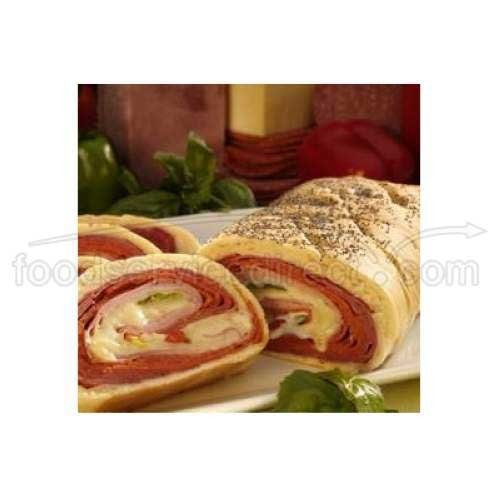 Stefano Italian Sausage, Pepperoni and Cheese Stuffed Bread, 15 Ounce -- 12 per case.