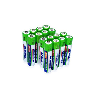 ACDelco Ni-MH 800 mAh Precharged AAA Rechargeable Batteries, 16-Count