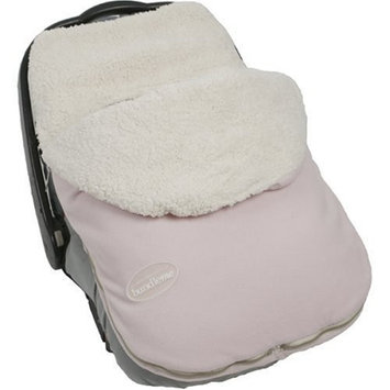 JJ Cole - Original Bundleme, Canopy Style Bunting Bag to Protect Baby from Cold and Winter Weather in Car Seats and Strollers (Blush Pink, Infant)