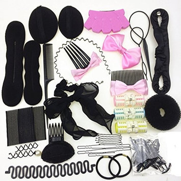 Cuhair mix 30 pcs Hair Styling tool design Clip Band Hairpin Comb Twist Accessories wavy Tools Kits for girl women diy