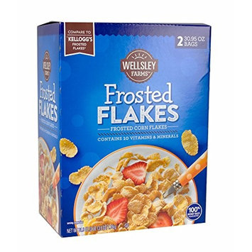 Wellsley Farms Frosted Flakes, 61.9 oz. (pack of 2)