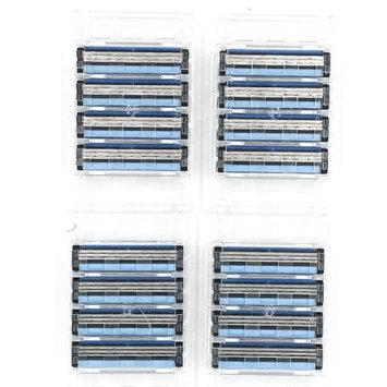32 Razor Blades for Gillette Sensor, Sensor Excel and Personna Tri-flexxx razors from Taconic Shave