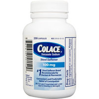 Colace Capsules 100 mg, 250 count