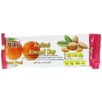 Oskri Bar, Apricot with Almond, 1.9 Ounce (Pack of 20)