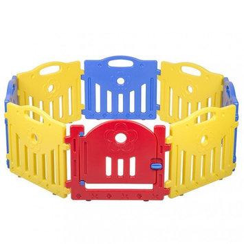 Adjustable Baby Playpen 8 Panel Playard Kids PlaySafe Activity Center W/Lock