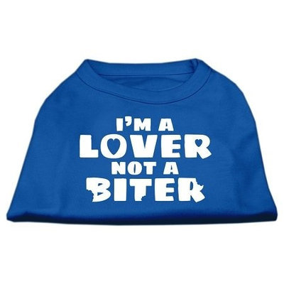 Ahi I'm a Lover not a Biter Screen Printed Dog Shirt Blue XL (16)