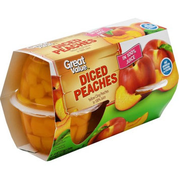 Pacific Coast Producers Great Value Diced Peaches in 100% Juice